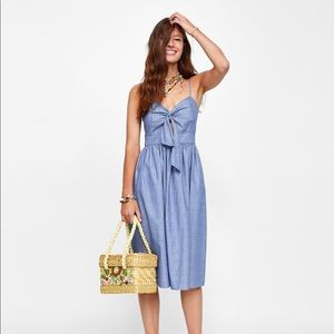 Strap oh Knotted Dress Zara (M)